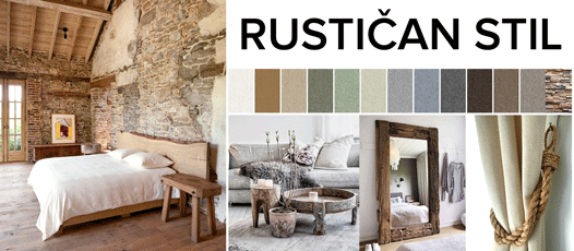 rustican country stil